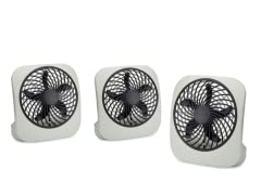 3PK O2COOL 5-Inch Portable Fan