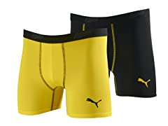 Puma Boys Briefs 2pk - Yellow/Blk (6-10)