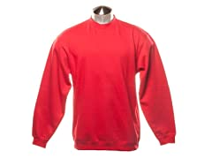 Crew-Neck Sweatshirt - Red