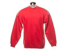 Crew-Neck Sweatshirt - Red
