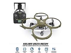 Kolibri Delta-Recon Quadcopter w/ HD Cam, FPV App