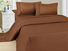 Lavish Home Sheet Set - Brown - 4 Sizes