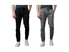 2Pack Mens Nylon Blend Active Jogger