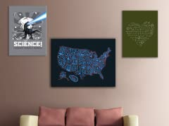 Math, Science and Social Studies Canvas Art