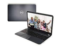 """Dell 17.3"""" AMD Quad-Core Laptop - Silver"""