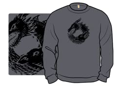 """Of Ice and Fire"" Charcoal Crewneck"
