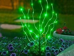 Anywhere LED Branch Light, Green
