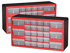 26-Drawer Hardware & Craft Cabinets 2-Pack
