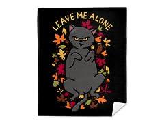 Leaves Me Alone Mink Fleece Blanket