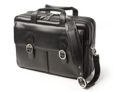 "Hyde Park 15"" Leather Laptop Case"