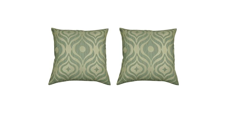 Bouclair Home Decorative Pillows : Cleo Set of Two Luxury Decorative Square Pillows-3 Colors