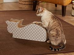 Alley Cat Cardboard Cat Scratcher - Taupe