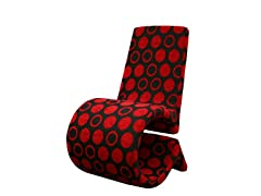 Forte Accent Chair Red/Black