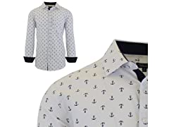 Mens Printed Dress Shirt