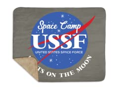 """""""Space Force Camp"""" Sherpa Blanket"""