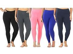 Women's PlusSize Full-Length Leggings 4P