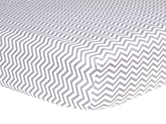 Gray Chevron Flannel Crib Sheet