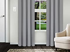 Superior Solid Blackout Curtain Set of 2