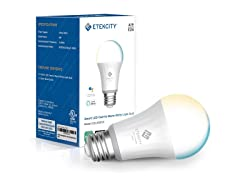 Etekcity Tunable Smart Light Bulb, Single