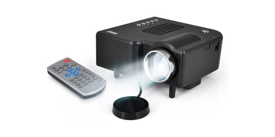 pyle mini led portable projector. Black Bedroom Furniture Sets. Home Design Ideas