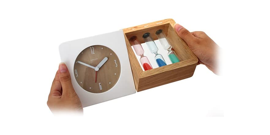 3 Color Hourglass Design Alarm Clock