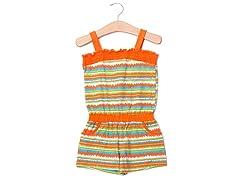 Orange Stripes Knit Romper (12M-24M)