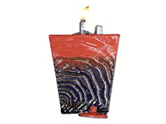 Drama Oil Fire Burner with Lid and Wick, 2-Pack