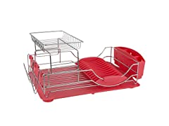 DISH DRAINER DELUXE RED