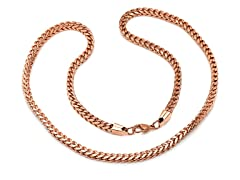 "18kt Rose Gold Plated 24"" Box Necklace"