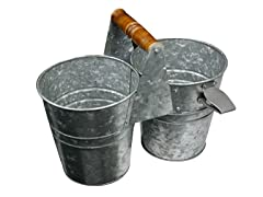Galvanized Beverage Caddy w/ Bottle Opener