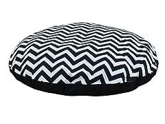 "Zig Zag Black 36"" Round Pet Bed"
