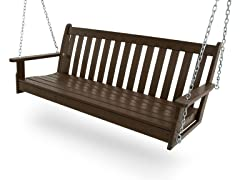 Vineyard Swing Bench, Mahogany