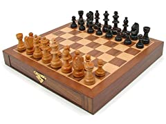 Inlaid Walnut Magnetized Chess Set