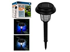 3-Pack Solar Bug Zapper LED and UV Light