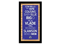 "Sacramento Kings 9.5"" x 19"" Sign"