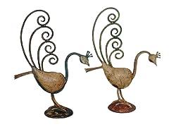 Iron Peacock - Set of 2