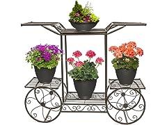 Cart Stand 6-Flower Pot Display Rack