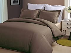 Hotel Peninsula Duvet Set-Chocolate-2 Sizes