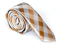 Skinny Tie Madness Riddle me Orange