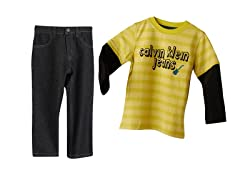 Long Sleeve Top & Jeans (2T-4T)