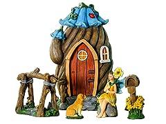 Flower House Miniature Fairy Garden Set
