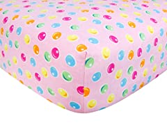 Gumdrop Print Flannel Crib Sheet