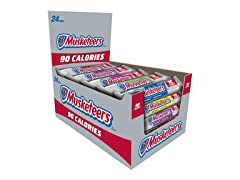 3 MUSKETEERS 90 Calories Bar, 24ct
