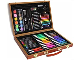 86-Pc Art Set with Wooden Carrying Case