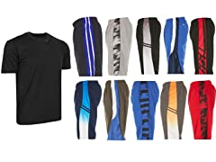 Men's Active Athletic Shorts & Tee 6Pack