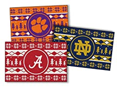 NCAA Holiday Sweater Starter Rugs