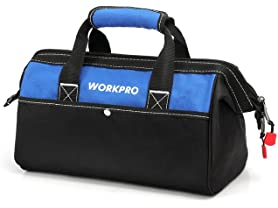 WORKPRO 13-inch Wide Mouth Tool Bag