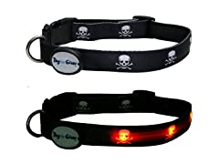 Dog-e-Glow Skulls LED Lighted Collar-Large