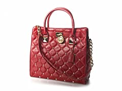 Large Hamilton Studded Quilted Tote