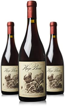 3-Pack Huge Bear Sonoma County Pinot Noir Wine